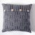 Knitted gray cushion cover with alpaca wool size 16x16 inch for cozy home decor