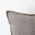 Black print on gray linen pillow cover hand painted - 14x14 inch pillow cover