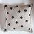 Polka dots on gray linen pillow 16x16 inch size - linen decorative pillow cover