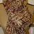 Brown and Cream Chunky Hand Knit Scarf / Handmade Accessories Scarf Knit