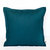 Copy of Teal blue pillow cover from linen - 16x16 with 1 inch flange - invisible