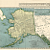 Alaska and Wyoming USA 1934 Antique Engraved State Maps