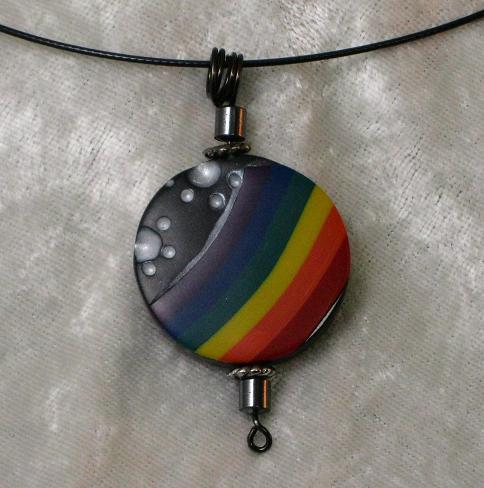 Rainbow Disc Pendant