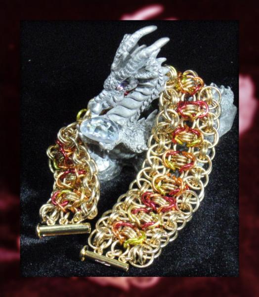Blaze Cuff Chainmaille Bracelet