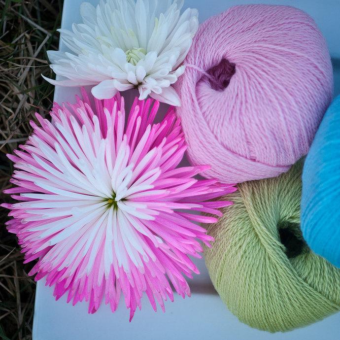 Diamond Fibers Cashmere Lace Yarn - Pink Lemonade