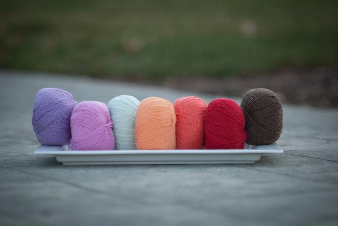 Diamond Fibers Cashmere Lace Yarn - Apricot
