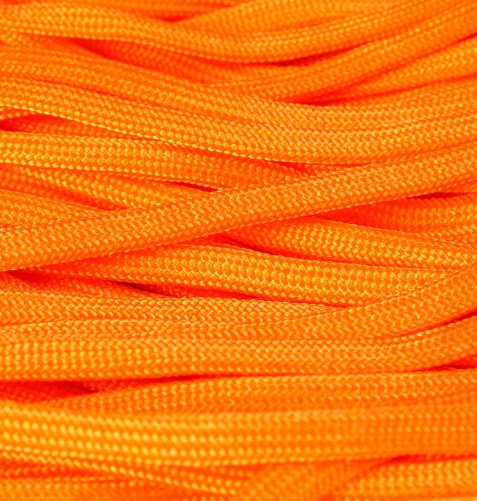 4mm Orange parachute cord - orange rope - Paracord - Para cord - 10 feet / 3