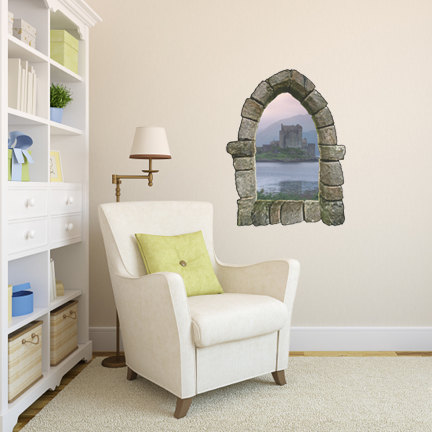 Castle Window Wall Decal Design 1 | WilsonGraphics