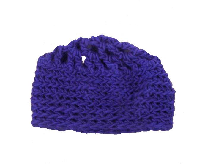 Blue Crocheted Beanie