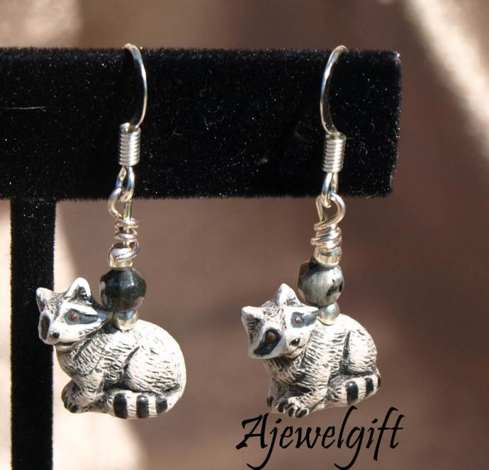 Raccoon Earrings (11046)