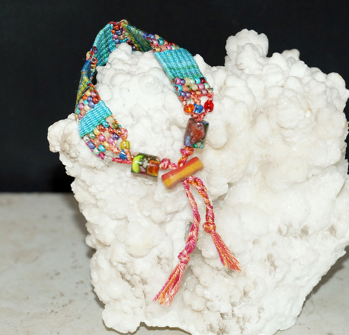 Colorful Loom Woven Friendship Bracelet