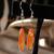 Sleek Orange Glass Contemporary Earrings 13012