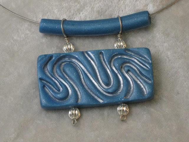 Pale Blue Wave Pendant
