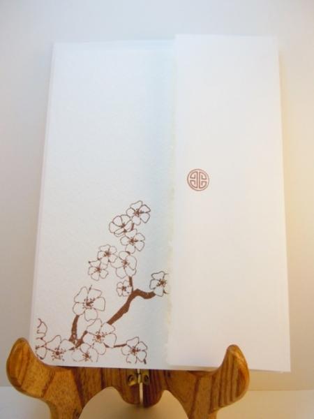 Cherry Blossom Handstamped Card