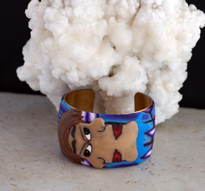 Polymer Clay Siamese Twins Wrist Cuff