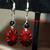 Red Medallion Earrings 13002
