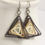 Triangle Swirl Geometric Brown Shades Niobium Earrings - Eco Friendly Artisan