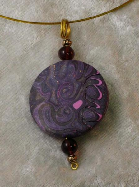 Purple and Pink Circle Pendant