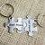 Best friends Keychains hand stamped puzzle piece set