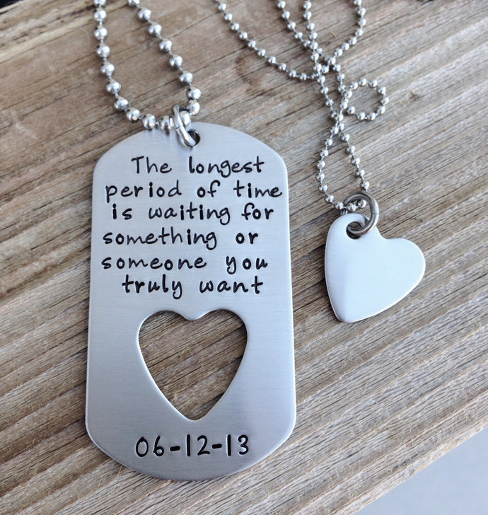Custom Dog Tag Hand Stamped Military Tag With By