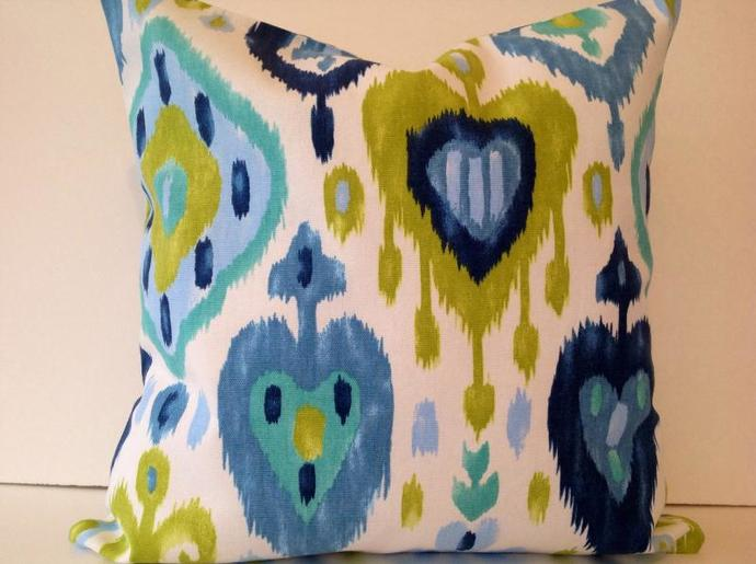 Decorative Pillow Cover, Dashka Azure