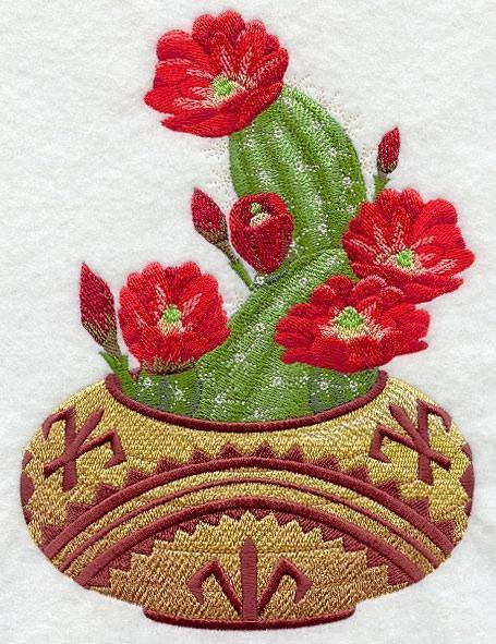 Embroidery Quilt Block,Southwest  Flower  Basket, quilting, block,