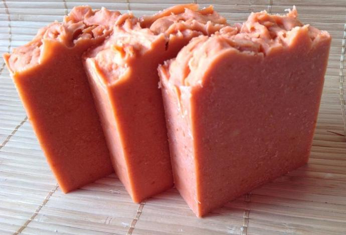 Tomato Soaps, Sample bars,handmade all natural soaps