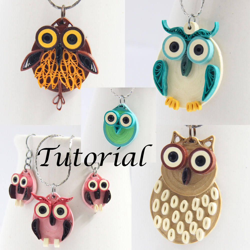 Tutorial for paper quilled owl jewelry pdf honeysquilling for How to make your own quilling paper