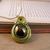 Metallic green steampunk dragon egg pendant