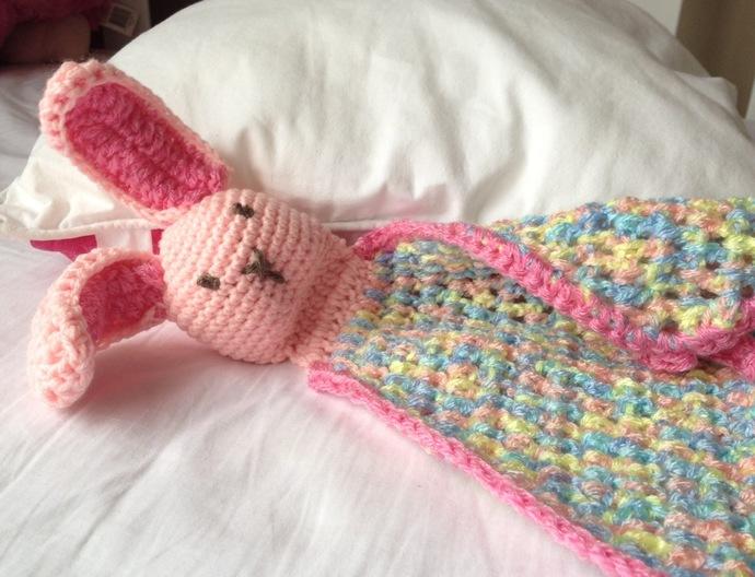 Baby Bunny Security Blankie Crochet