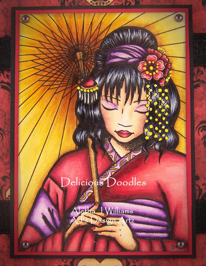Quiet Contemplation Handmade OOAK Art Card