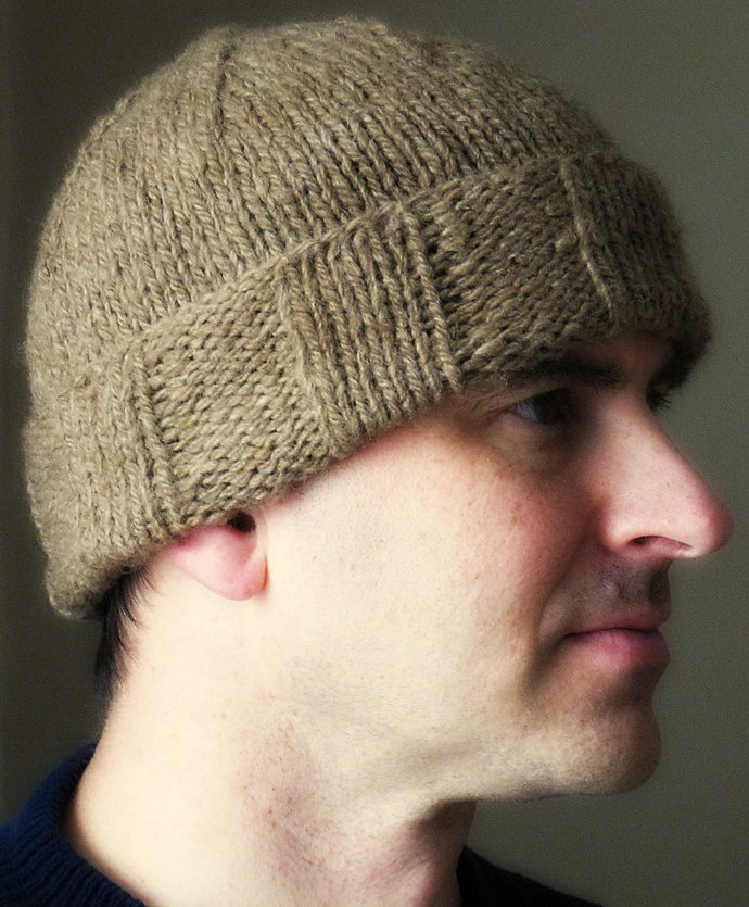 Mens winter hat, warm, handspun natural wool, tobbogan, touques, handmade