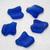 Ridged Freeform Royal Blue Sea Glass Pendants- recycled glass