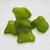 Ridged Freeform Shamrock Sea Glass Pendants- recycled glass