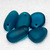 Teal Bay Large Pebbles- recycled sea glass pendants