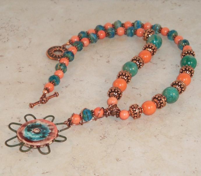 Jangles Pinwheel Pendant Necklace