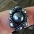 Gray Beaded Faux Pearl Ring Sz 11