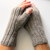Mens fingerless gloves, brown