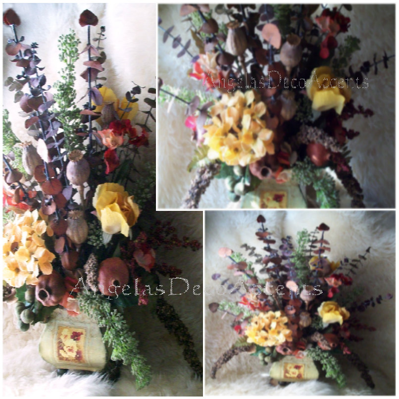 rustic floral arrangement tuscan angelasdecoraccents