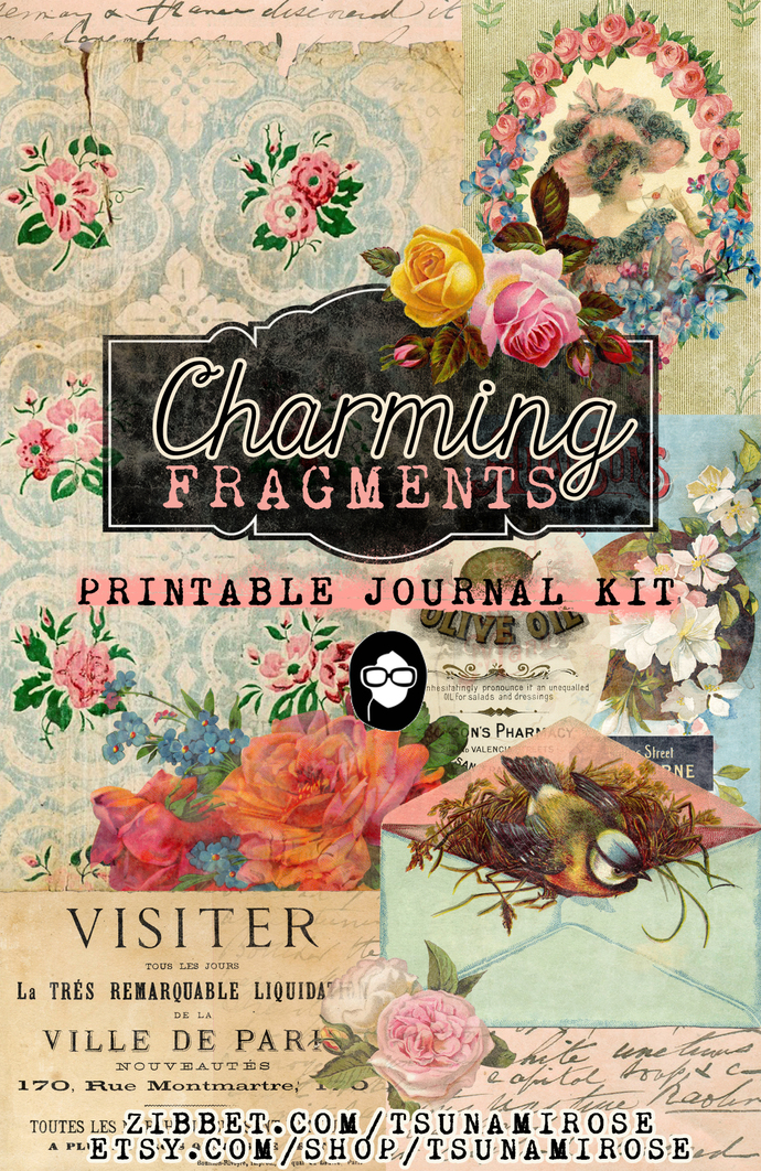 """Charming Fragments"" Printable Journal Kit"
