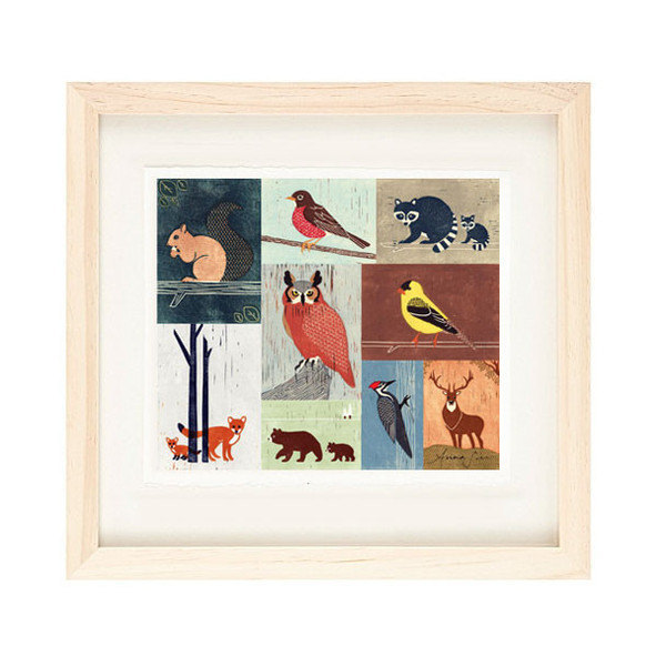 WOODLANDS ANIMALS - Birds, Owl, Fox, Raccoon, Squirrel, Robin, Bear, Woodpecker,
