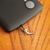 Cell phone charm with antiqued silver dolphin