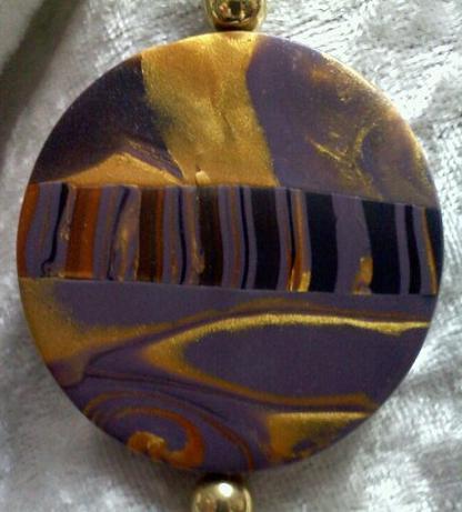 Gold Circle Landscape Pendant