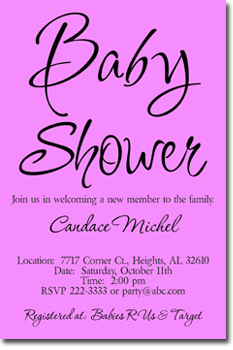 Bold Baby Shower Invitations ANY COLOR SCHEME Download JPG IMMEDIATELY