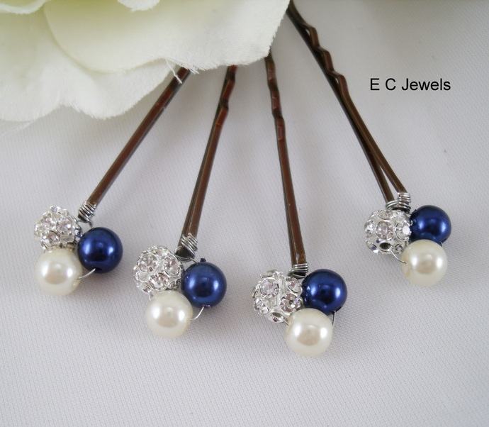 Color and Sparkle Pearl Hairpins - Pick your Color