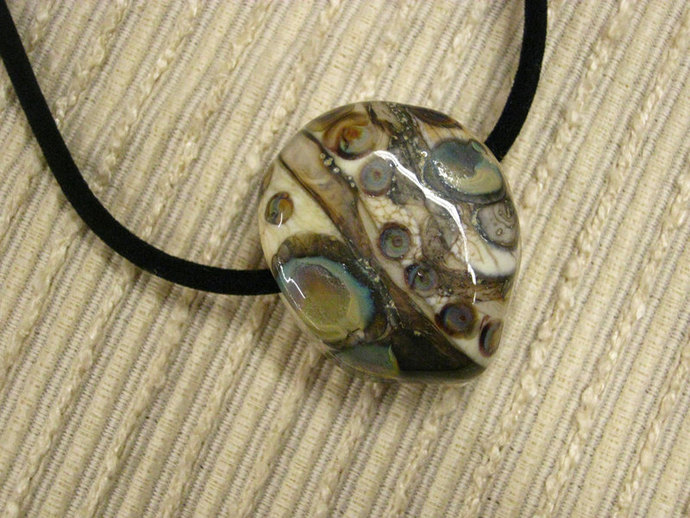 Handmade Jewelry / Gift for Him / Father's Day Gift : Lampwork Earthy Glass