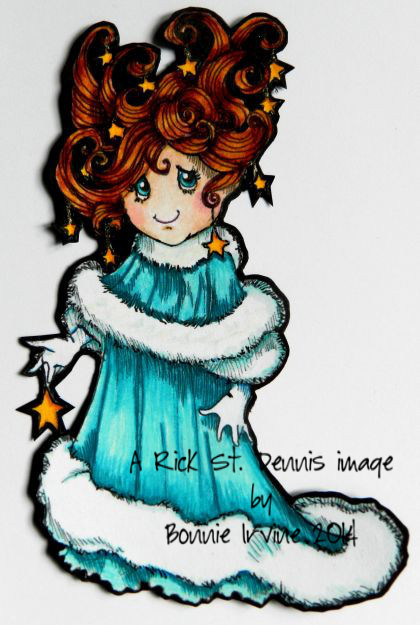 Sally Stardust digital stamp