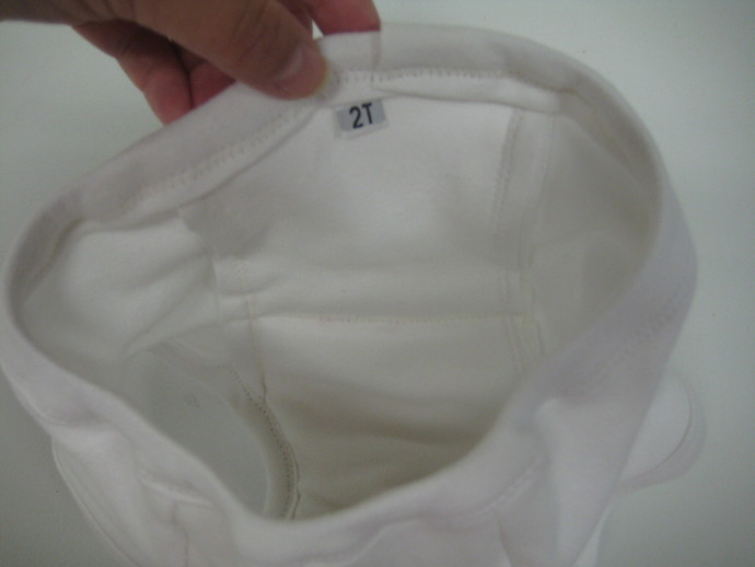 White Reusable Cloth and Bamboo Potty Training Pants - Size 18M - 2T