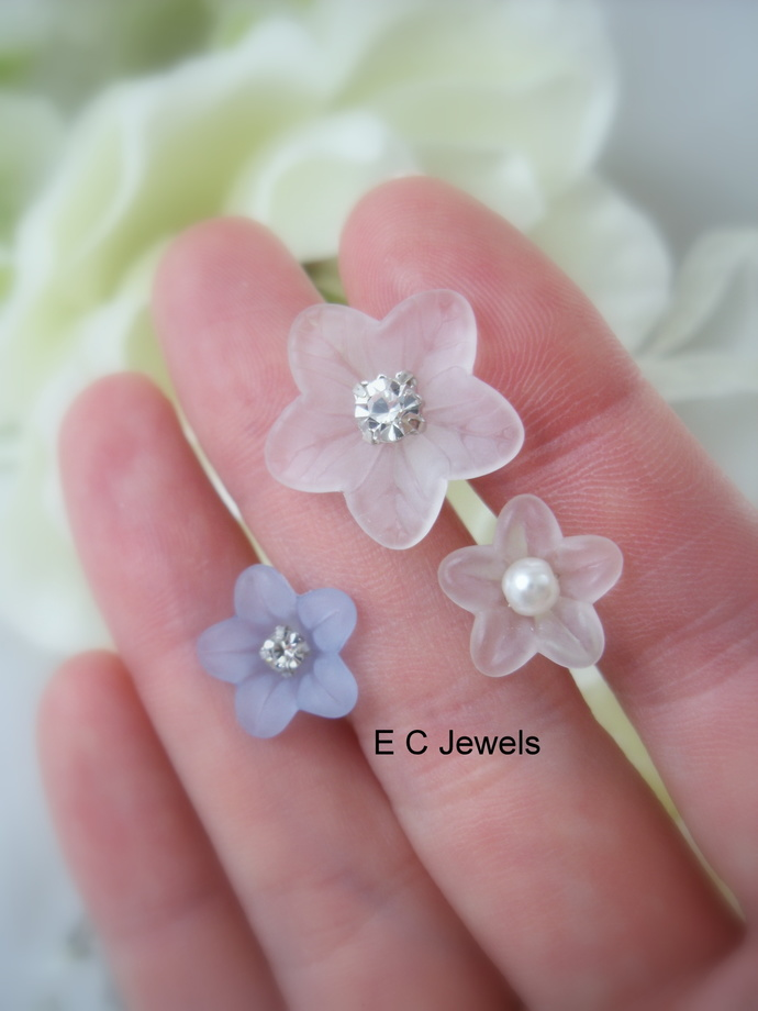 Lovely Lucites and Something Blue Hairpins