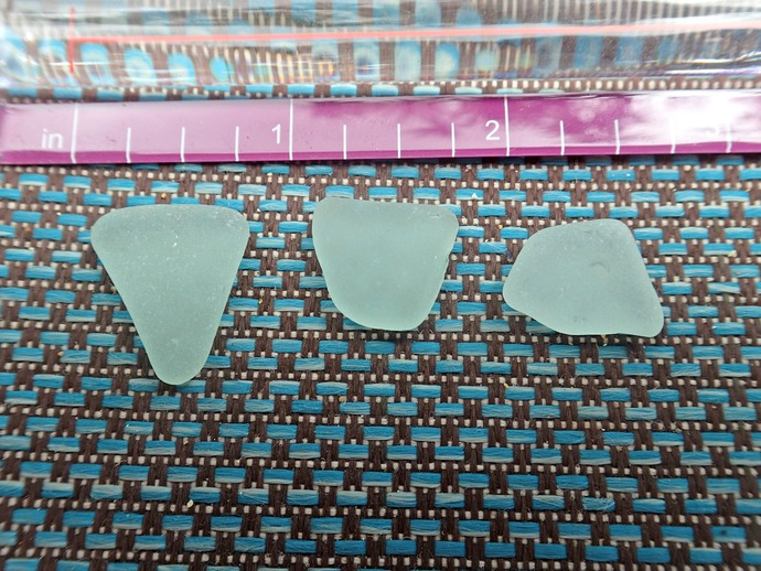 Seafoam Sea Glass from Hawaii 3 Medium Pieces